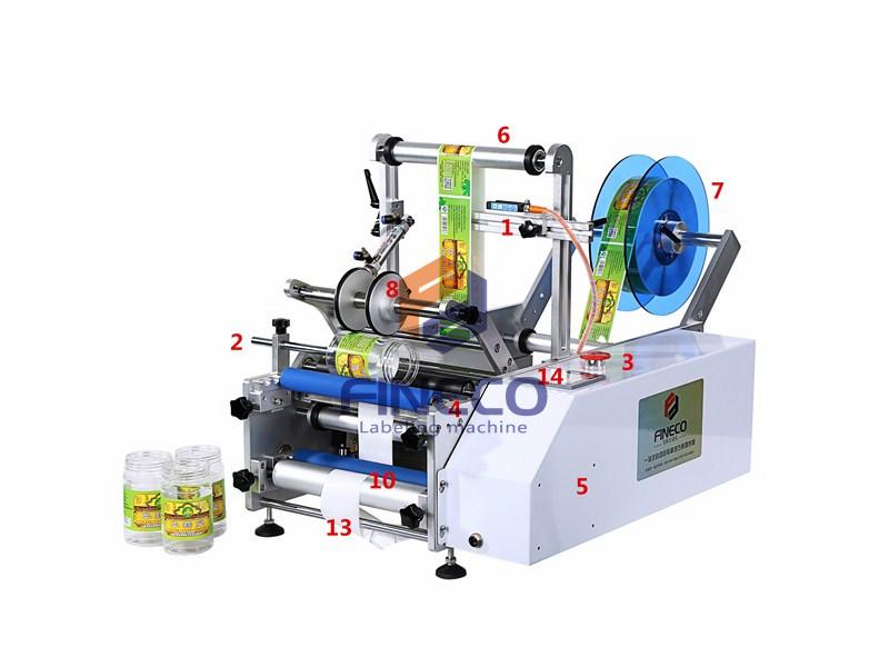 FK602 Semi Automatic Water Bottle Labeling Machine