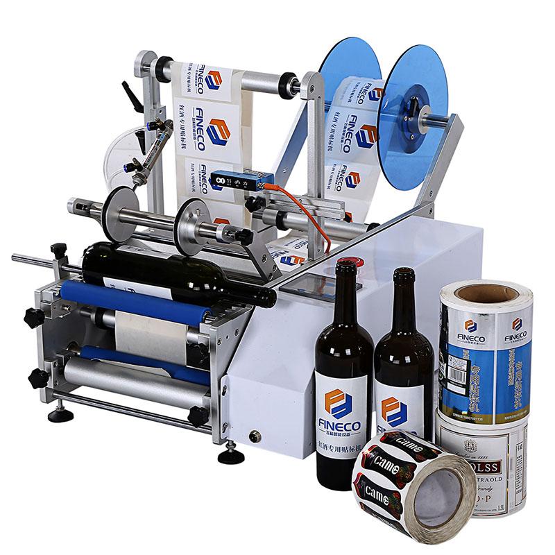 Semi-automatic round bottle labeling machine FK6033