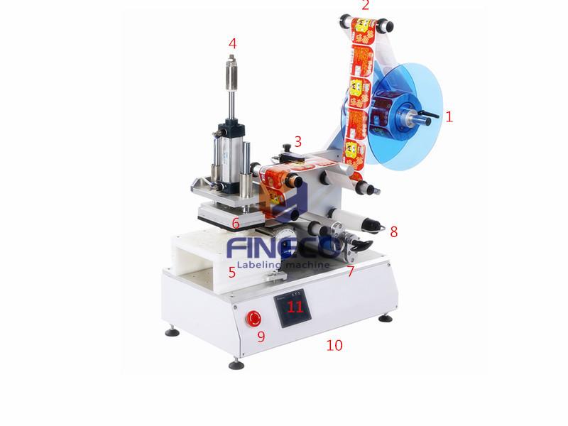 FK615 Semi Automatic Flat Labeling Machine for Sander Discs