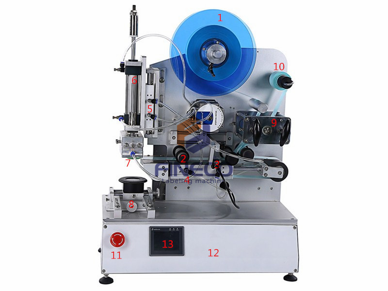 FK618 Semi Automatic High Precision Flat Labeling Machine with Light Curtain