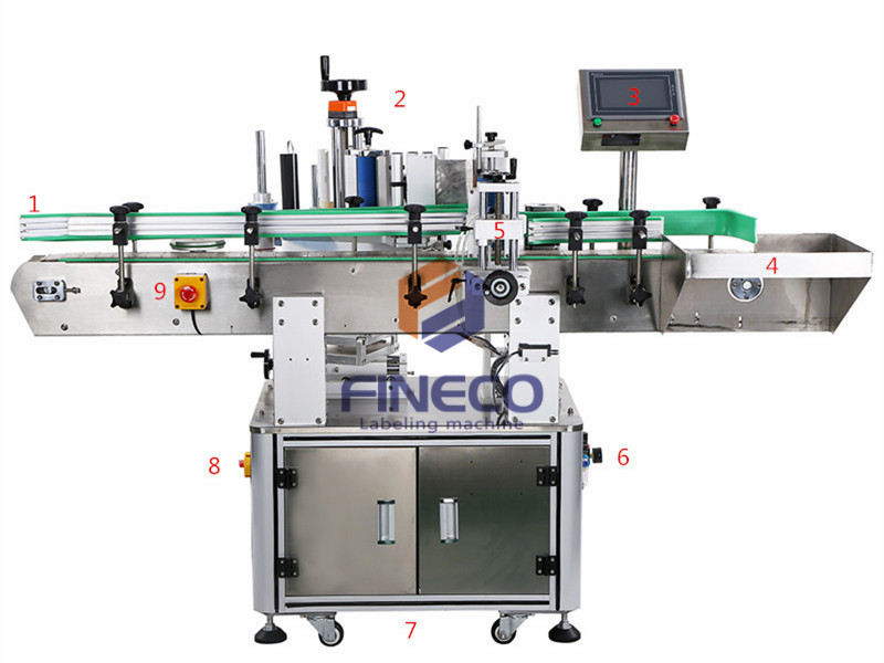 FK805S Automatic Top and Wrap Around Labeling Machine for Cans