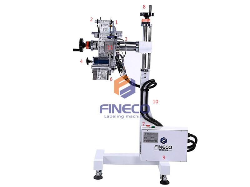FK835 Automatic Production Line Bag Labeling Machine