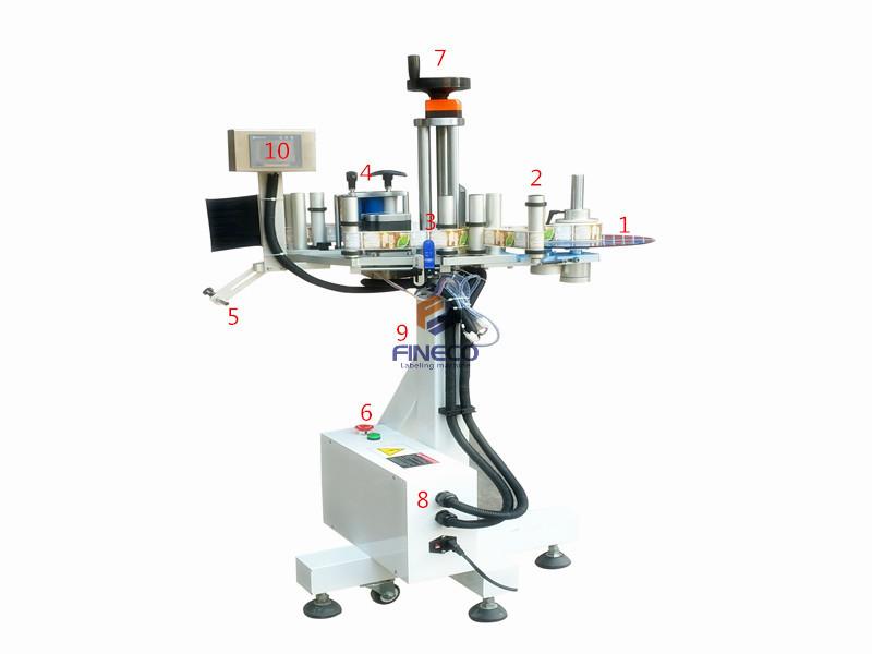 FK836 Automatic Production Line Cup Labeling Machine