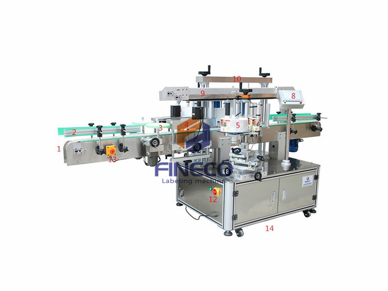 FK911 Automatic Double Side Labeling Machine for Shampoo Bottle