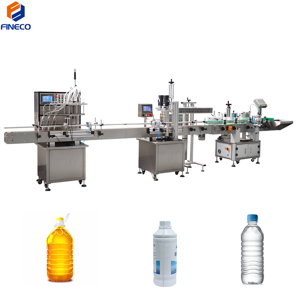 filling capping labeling machine line