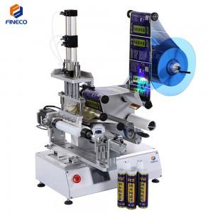 FK616A Semi Automatic double-barrelled bottle Sealant Labeling Machine