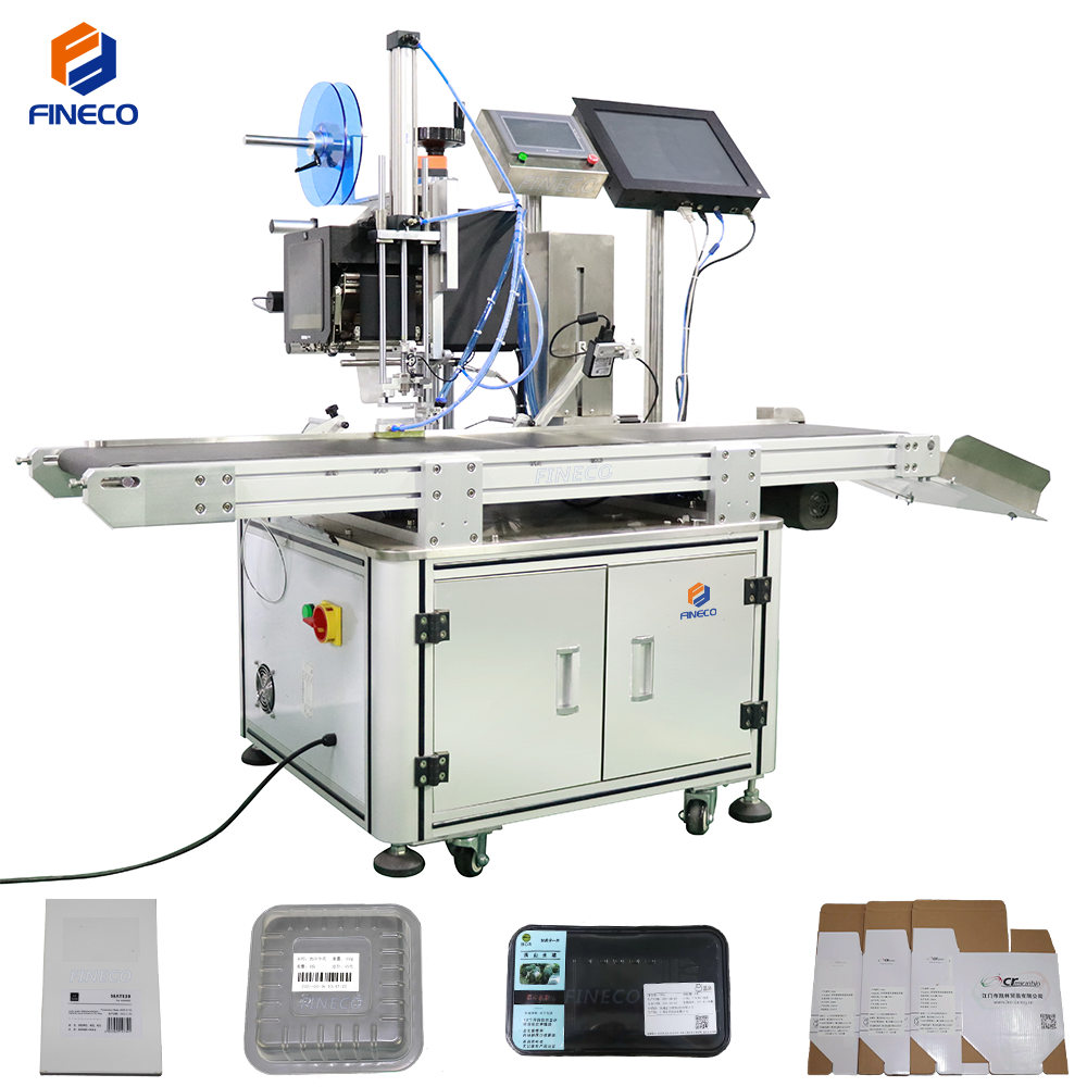 plane labeling machine with printing labels