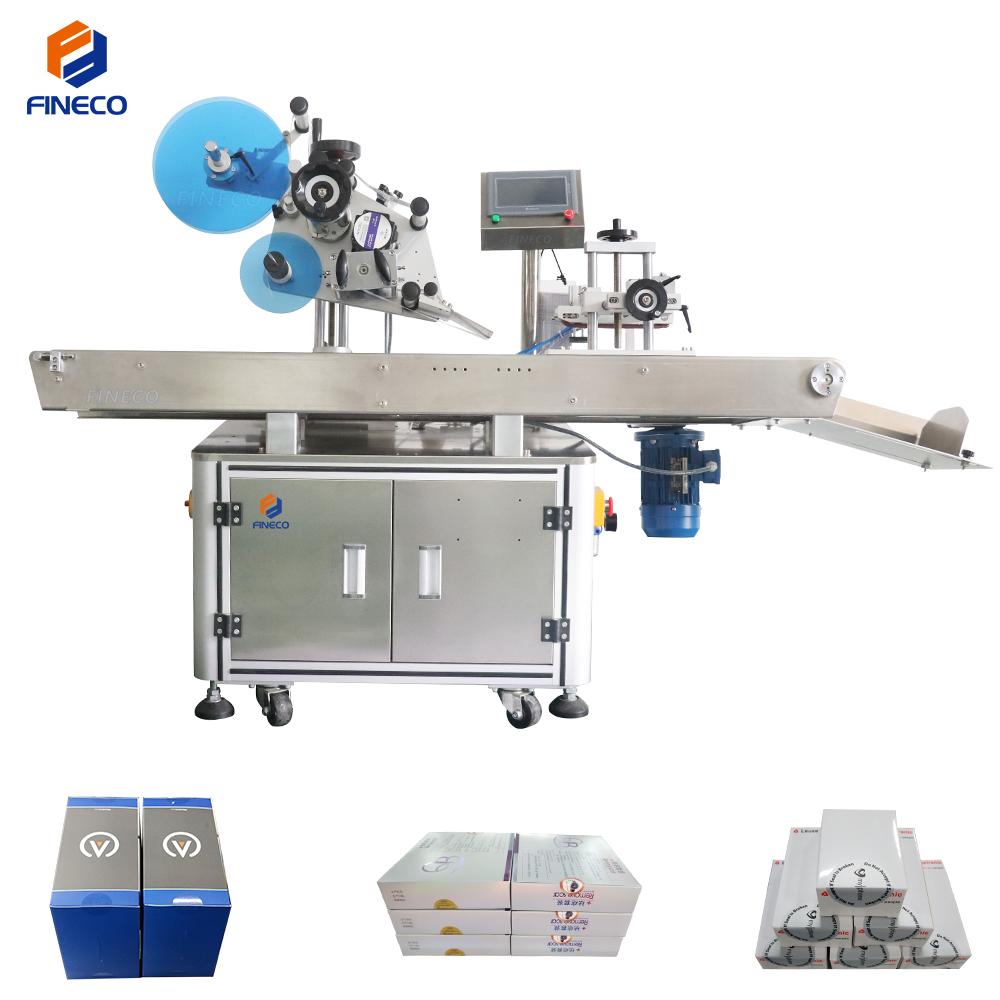 plastic box side sealing labeling machine