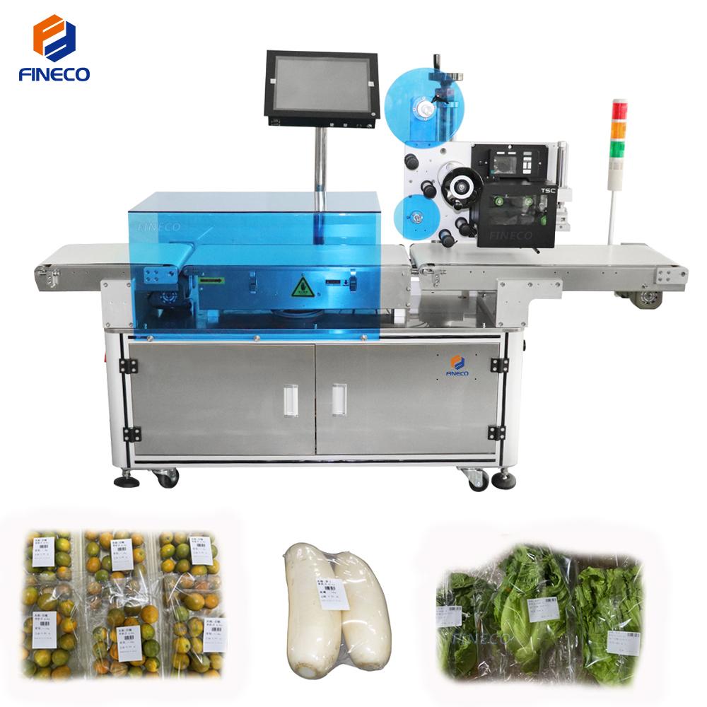 Weighing printing labeling machine